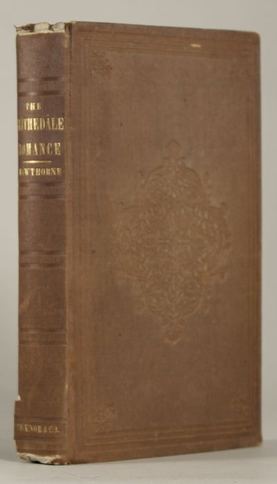 Boston: Ticknor, 1852. Octavo, pp. iv-vi viii 10-288, 4-page publisher's catalogue dated