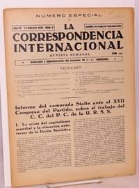 image of La correspondencia internacional; revista semanal, año VI, num. 8, 14 febrero 1934