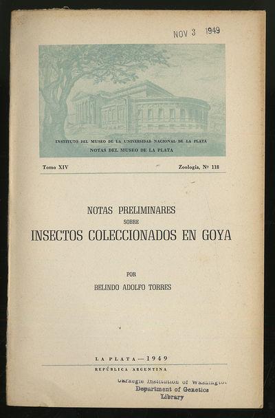 La Plata, Argentina: Museo De La Plata, 1949. Softcover. Very Good. First edition. Tomo XIV Zoologia...