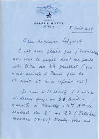 image of Typed letter signed from Rene Clair to Daniel Selznick, 1968