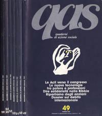QAS Quaderni di azione sociale Anno 1987 n. 49 - 50 - 51 - 52 - 53 - 54, 55 - 59