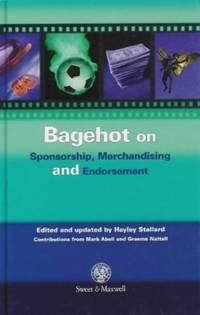 Bagehot On Sponsorship, Endorsement And Merchandising - Used Books