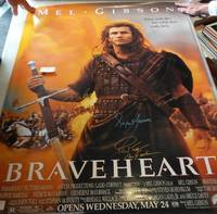 image of FULL SIZE MOVIE POSTER 'BRAVEHEART', *SIGNED* BY CAST (REPRINT POSTER)