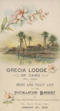 A collection of late 19th and early 20th century Egyptian Menus