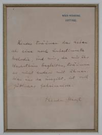 Theodor Herzl Original Manuscript [SIGNED]