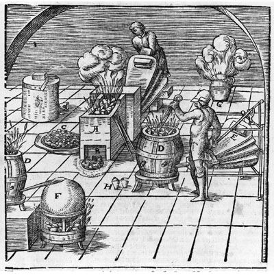 Frankfurt: Johann David Zunners, 1672. Scarce augmented edition of this illustrated technological cl...