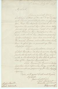 image of Letter signed to the Lord Advocate, (Thomas, 3rd Viscount Weymouth, 1st Marquis of Bath, 1734-1796, Statesman, Viceroy of Ireland)