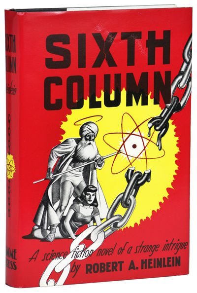 New York: Gnome Press, 1949. Octavo, cloth. First edition. America is conquered by Asia, and a small...