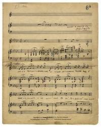 ANNA SOSENKO Handwritten music score [ca. 1933]