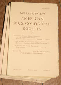 Journal of the American Musicological Society. Volume XLVI Spring 1993, Number 1