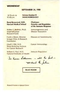 Medical Convention Program Sheet Signed by Albert Sabin