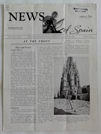 News of Spain [Spanish Civil War]: Assorted Weekly Newsletters from 1938 to 1939