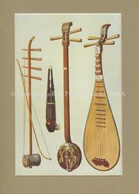 Hu-Ch\'In & Bow. Sheng. San-HSien, P\'I\'-P\'A.  Original Chromolithograph. Musical Instruments; Historic, Rare and Unique