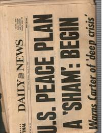 1979: New York Daily News: March 2, 1979 US Peace Plan - Israel - Jimmy  Carter; Muhammed Ali and Kent Green'