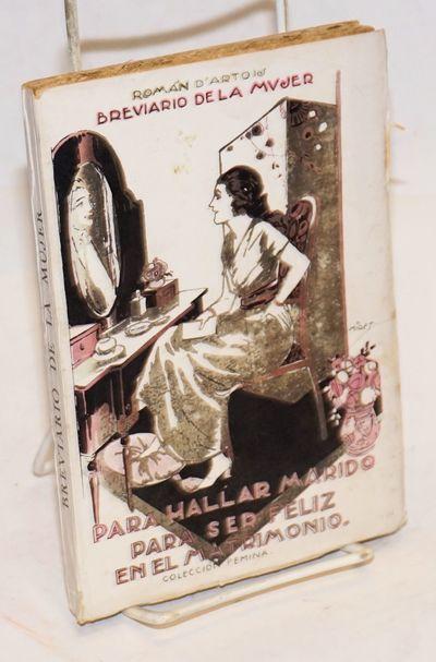 Barcelona: Francisco Sintes Editorial Poliglota, 1922. Paperback. 177p., index, neat presswork on dr...