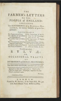 The Farmer's Letters to the People of England: containing the Sentiments of a Practical...