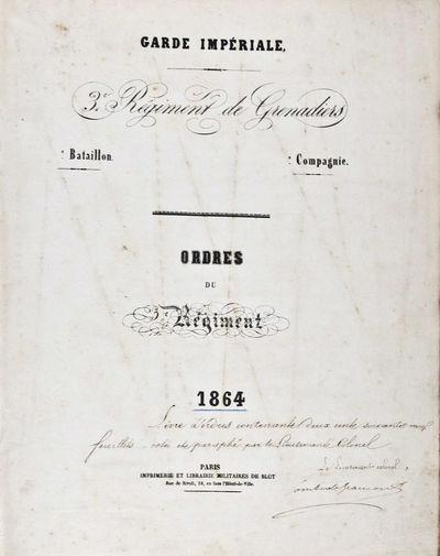 Paris: Imprimerie et Librairie Militaires de Blot, 1864. First edition. Hardcover. vg. Folio. 233pp....