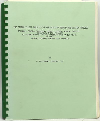 Richmond: Self-published, 1988. Comb Binding. Fine binding. Extensive and exhaustive genealogical co...