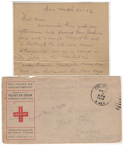 Correspondence archive consisting of five airmail letters sent by an officer in the U.S. 13th Cavalr...