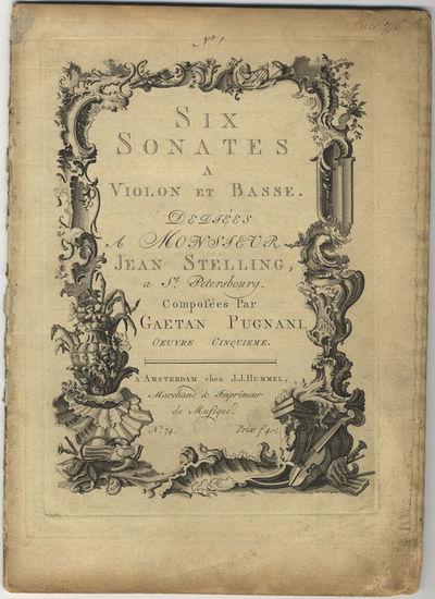 Amsterdam: J.J. Hummel , 1768. Folio. Disbound. (title within a fine decorative engraved border sign...
