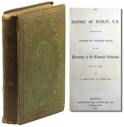 Boston: John Wilson and Son, 1853. Hardcover. Very good. Publisher's drab green cloth decorated in b...