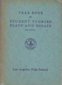 Year Book of Student Stories Plays & Essays for 1939-40