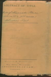image of 1884 LAND ABSTRACT OF TITLE FOR KOSCIOSKO PLACE