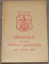 image of Almanach supputé sur le Méridien de Liège par Maître Mathieu Laensbergh, mathématicien, pour l'année 1959