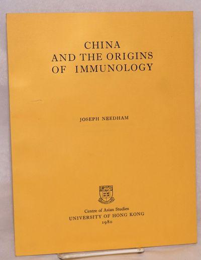Hong Kong: Centre of Asian Studies, University of Hong Kong, 1980. 33p., very good in wraps. S.T. Hu...