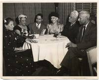 (Press photograph, African-American authors and journalists): JACKMAN, Harold, Daisy Lampkin, Anna Land Butler, Jessie Vann, Dr. and Mrs. T.O. Williams. Circa 1952