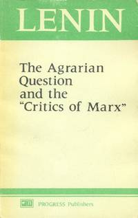 """image of The Agrarian Question and the """"Critics of Marx"""""""