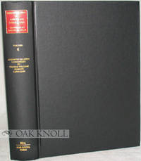 BIBLIOGRAPHY OF AMERICAN LITERATURE VOL 6. AUGUSTUS BALDWIN LONGSTREET TO THOMAS WILLIAM PARSONS