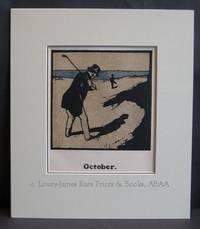 October: Golf ::Custom Framed::