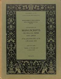 Bibliotheca Phillippica, New Series : Medieval manuscripts: Part 7:  Manuscripts on Vellum, Paper and Linen of the 3rd Century B.C. to the 17th  Century A.D. (Sale Sotheby & Co.(London) 21st November 1972)