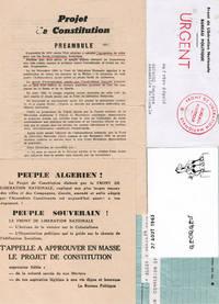 Dossier autour de la Constitution algérienne de 1963 : Procès-verbaux de l'Assemblée Constituante, convocations, coupures de presse...