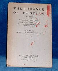 THE ROMANCE OF TRISTRAN by Beroul A Poem of the Twelfth Century .. Volume I Introduction, Text, Glossary, Index