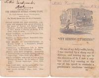 """Cut Behind"" an American Sunday School Union Tract from 1850"