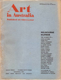 image of Art in Australia. Third Series. Number 53 - Melbourne Number