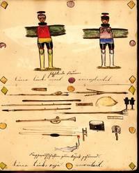 Manuscript sketchbook with 48 original watercolors of daily life in Greenland.
