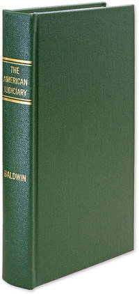 The American Judiciary. 1992 reprint of the 1905 edition