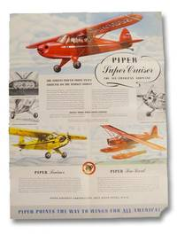 image of Piper Aircraft Promotional Poster, Featuring the Piper Super Cruiser, Trainer, Sea Scout, and O-59