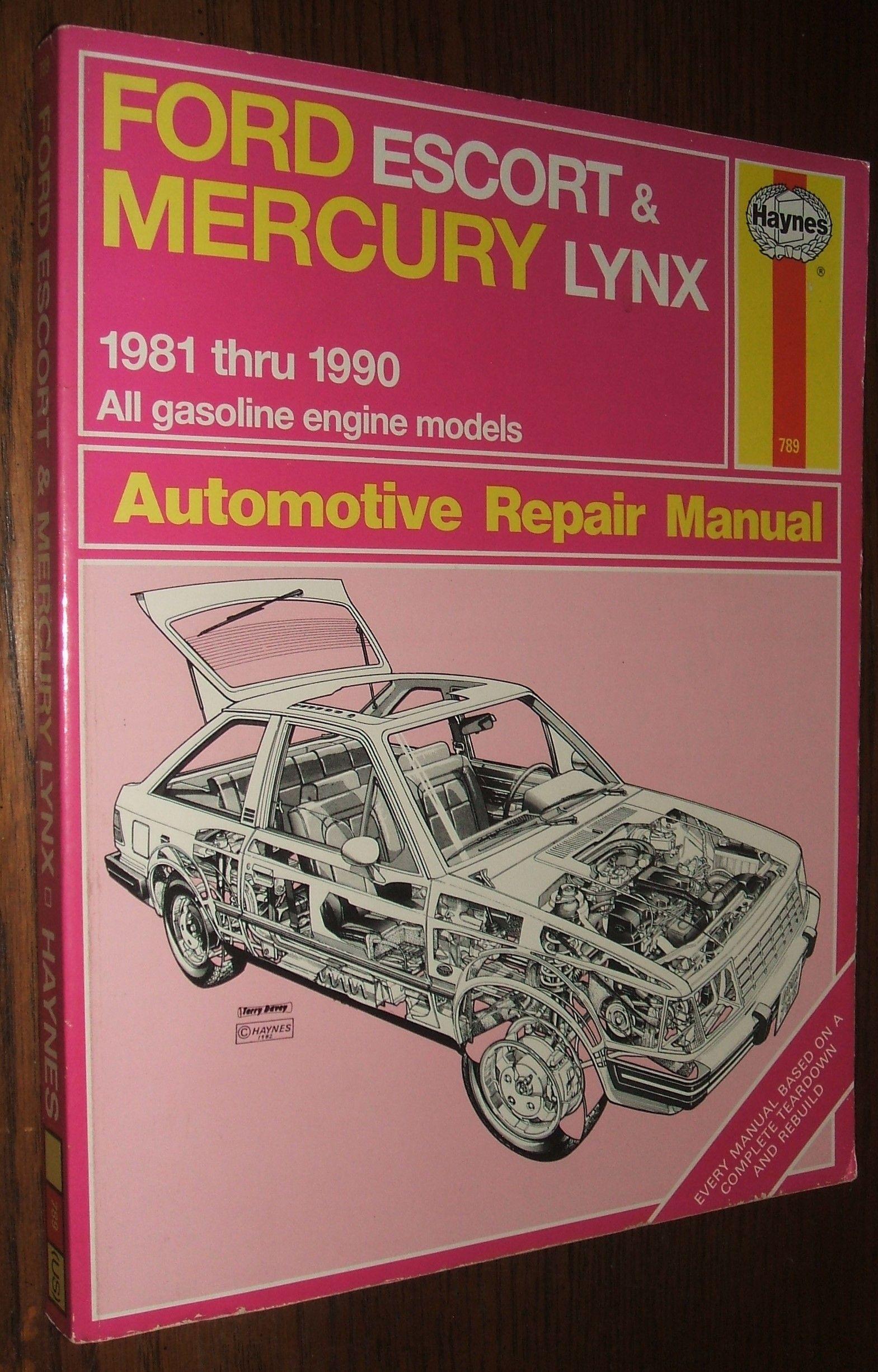 ford escort and mercury lynx automotive repair manual 1981 1990 by alan  ahlstrand - - Biblio.com