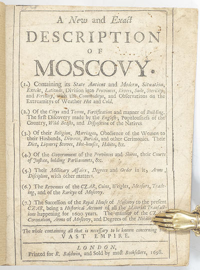 London: R. Baldwin, 1698. First edition of this work. Octavo, bound in modern wrappers, 28 pages. In...