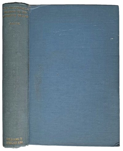 London:: Williams & Norgate, 1931., 1931. 8vo. 512 pp. Frontis., 186 figs., index. Light blue gilt-s...