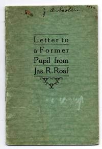 Letter to a Former Pupil from Jas. R. Roaf