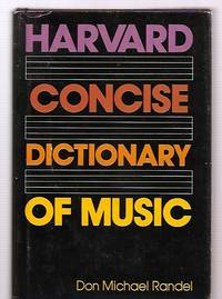 image of HARVARD CONCISE DICTIONARY OF MUSIC