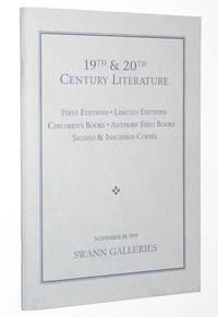 19th & 20th Century Literature, Swann Galleries, New York, November 18, 1999: Sale 1842