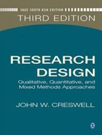 image of Research Design: Qualitative, Quantitative, and Mixed Methods Approaches, 3rd Edition