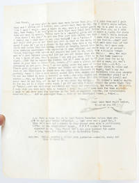 Typed Letter Signed while in Mexico visiting exiled fellow Beat writer William S. Burroughs