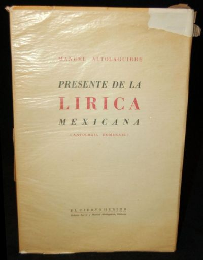Mexico: El Ciervo Herido, 1946. First Edition. Soft Cover. Very Good+ binding. Beautiful copy. The p...